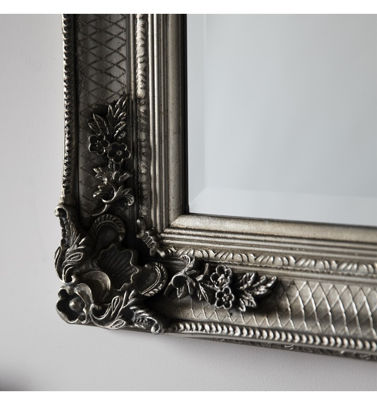 Abbey leaner mirror silver 65x31 gallery direct for Baroque leaner mirror