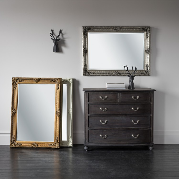Abbey Rectangle Mirror Gold