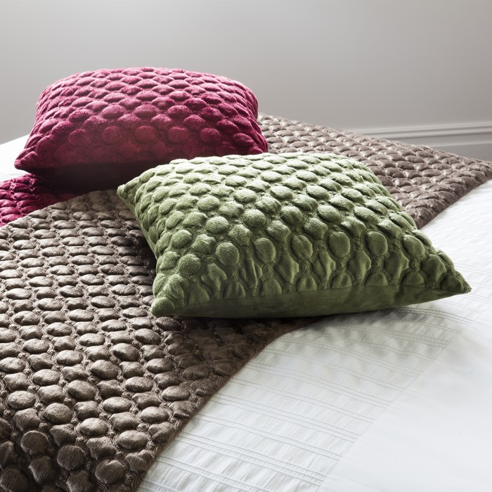Cappucine Quilted Cushion Red