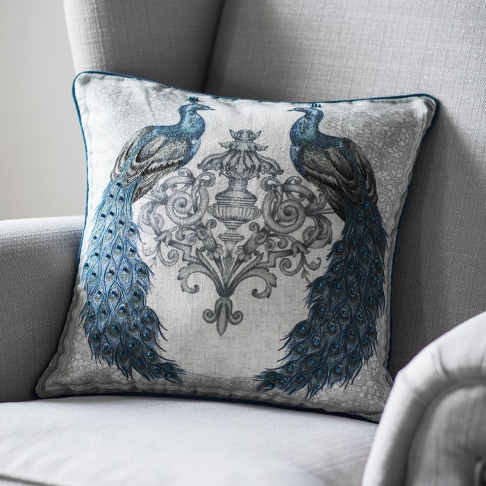 Luxe Peacock Cushion