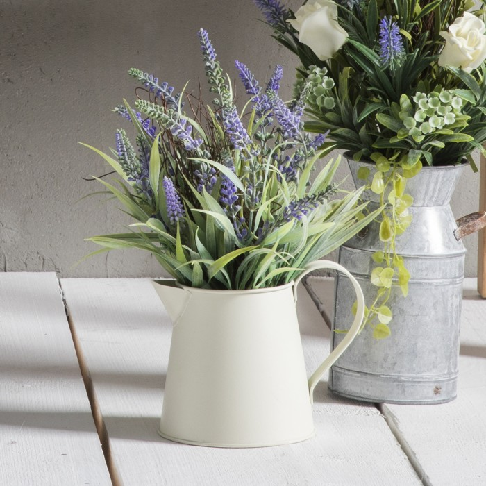 Faux Eucalyptus With Galvanised Jug (6pk)