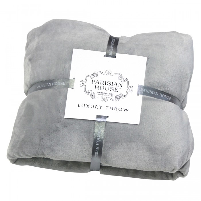 Flannel Fleece Throw Grey