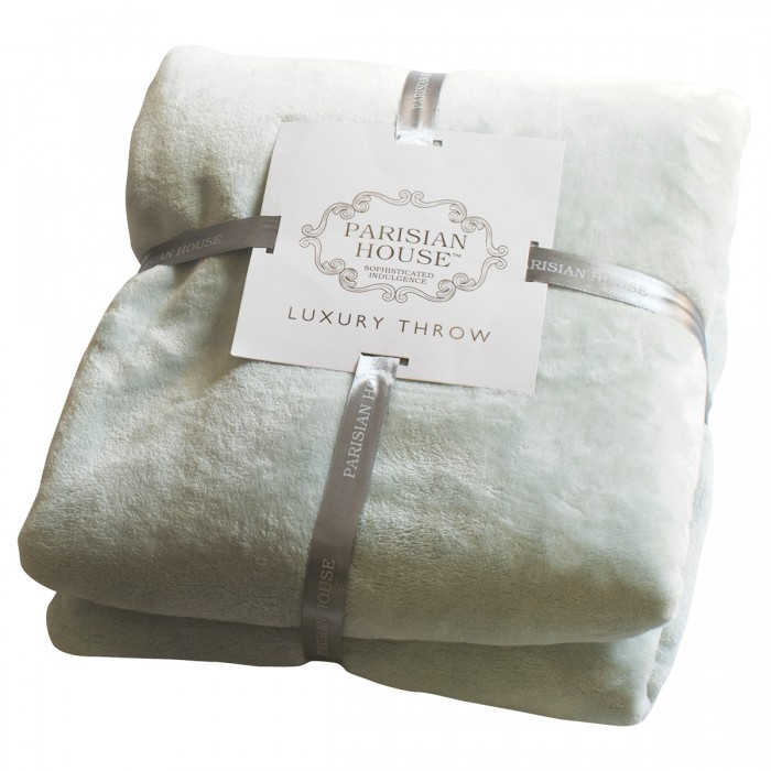 Flannel Fleece Throw Duck Egg