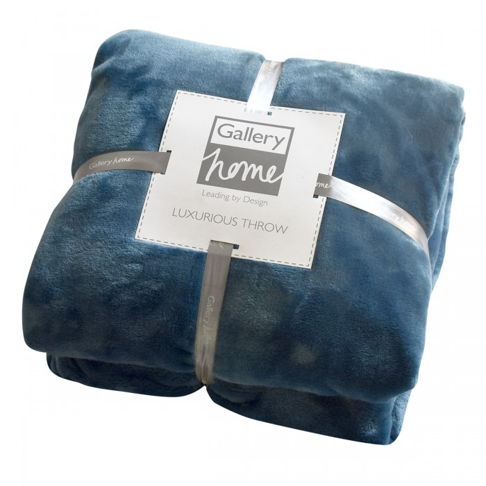 Flannel Fleece Throw Teal