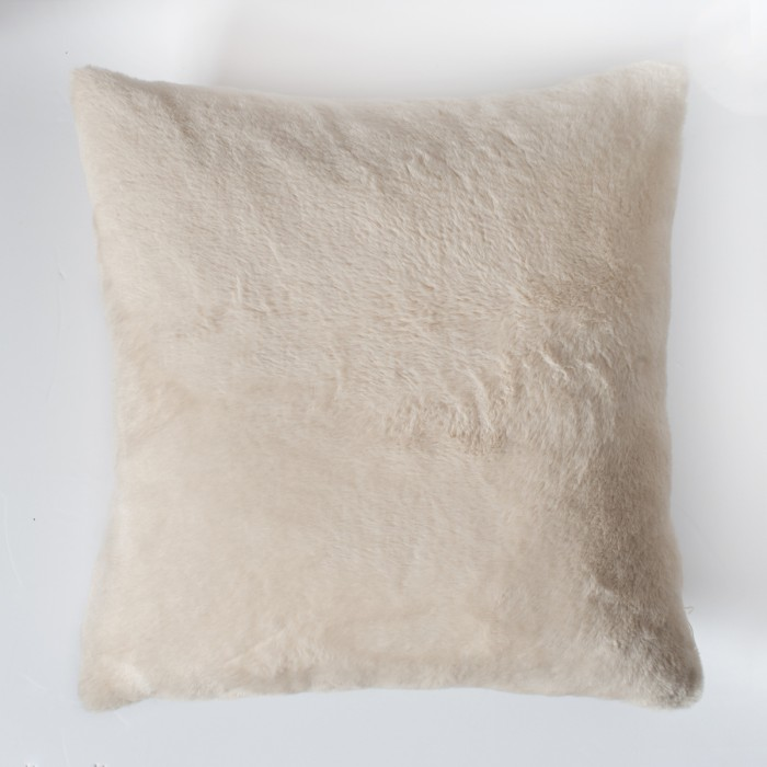 Faux Rabbit Double Sided Cushion Cream