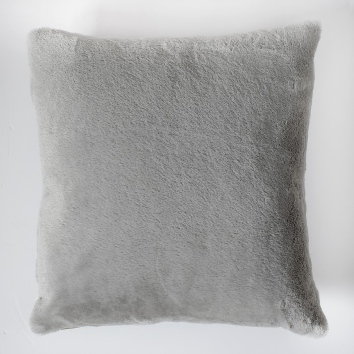 Faux Rabbit Double Sided Cushion Grey