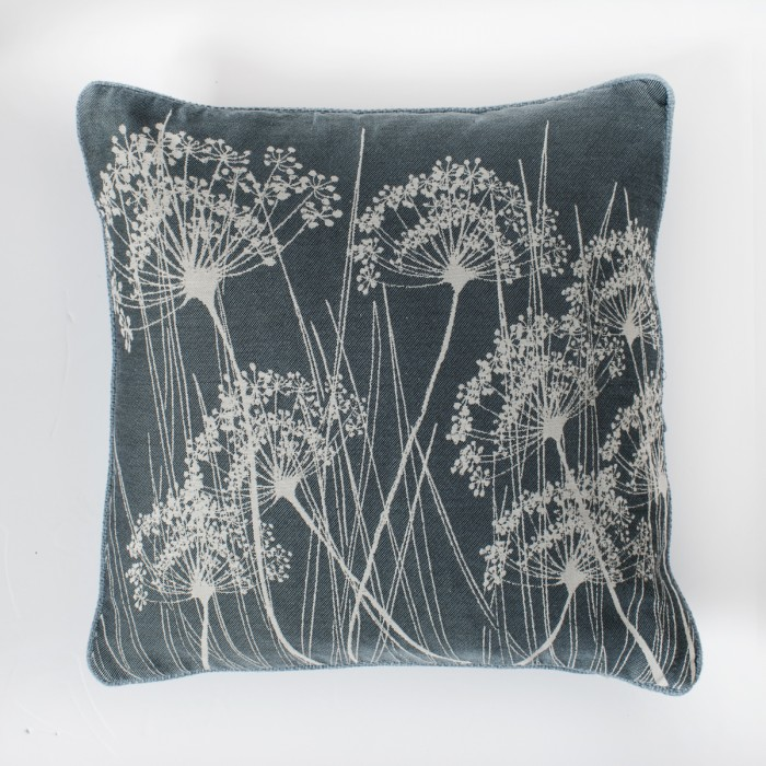 Silhouette Stem Print Cushion Duckegg