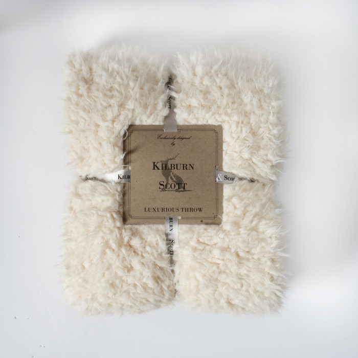 Lined Sherpa Throw Cream