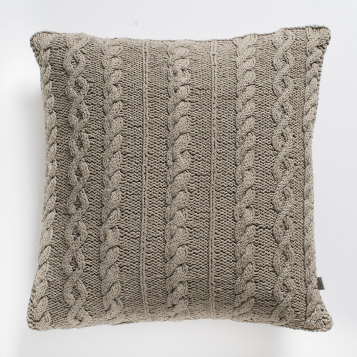 Walton Cable Knit Cushion Natural