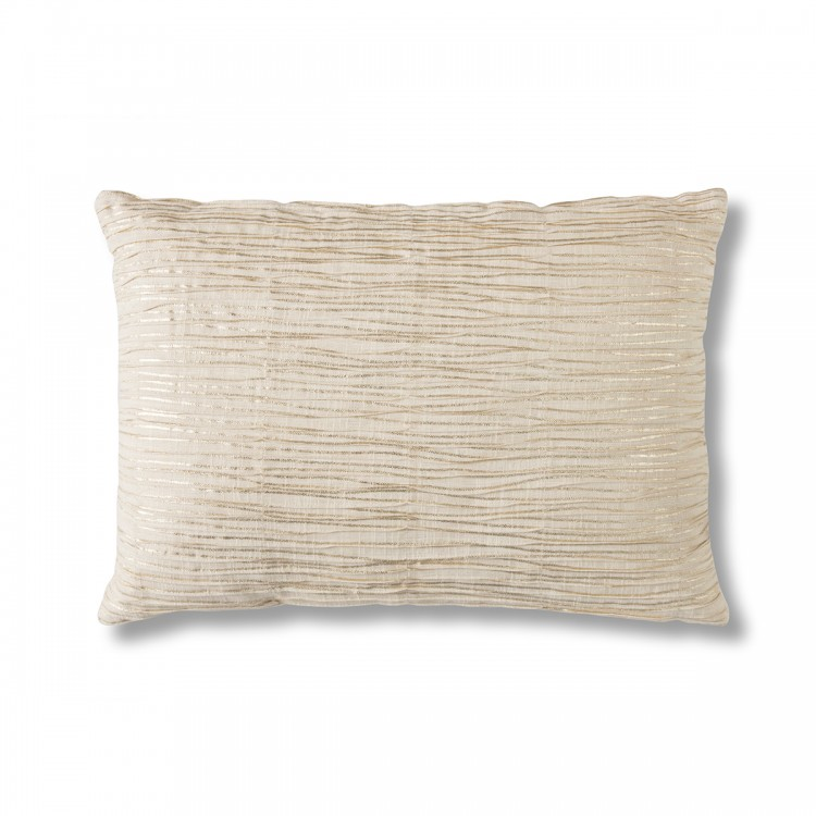 Calsite Metallic Pleated Cushion Gold