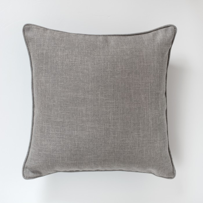 Textured Piped Cushion Heather