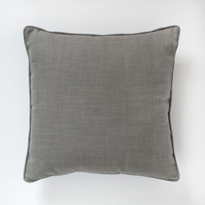 Textured Piped Cushion Grey