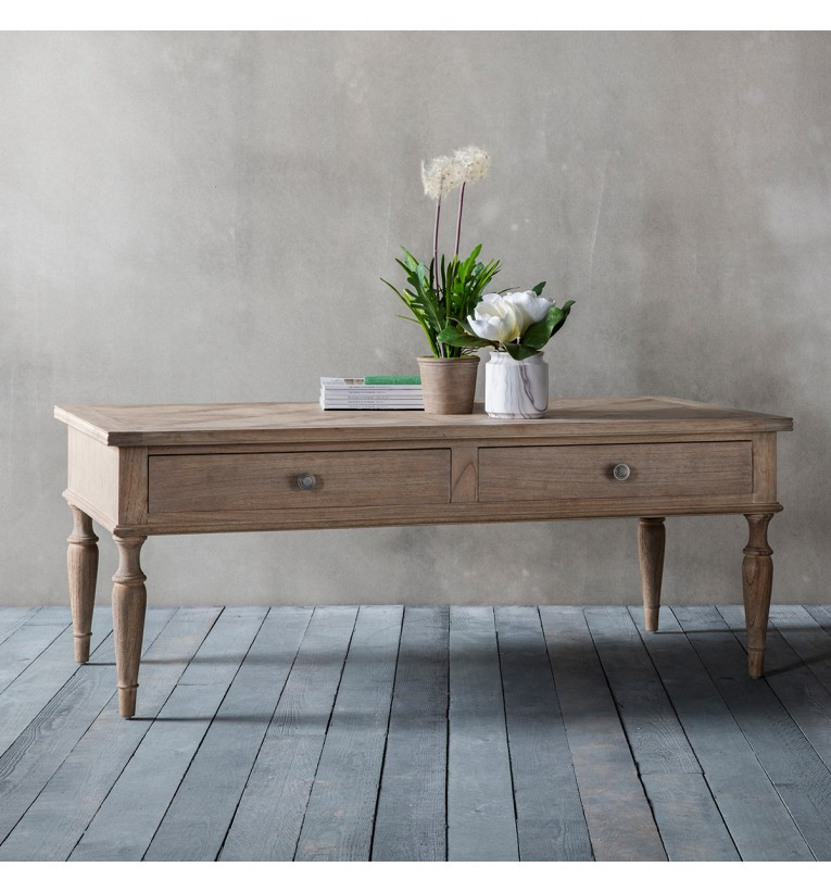 Coffee Table With Map Drawers: Mustique 2 Drawer Coffee Table 130x65x50cm
