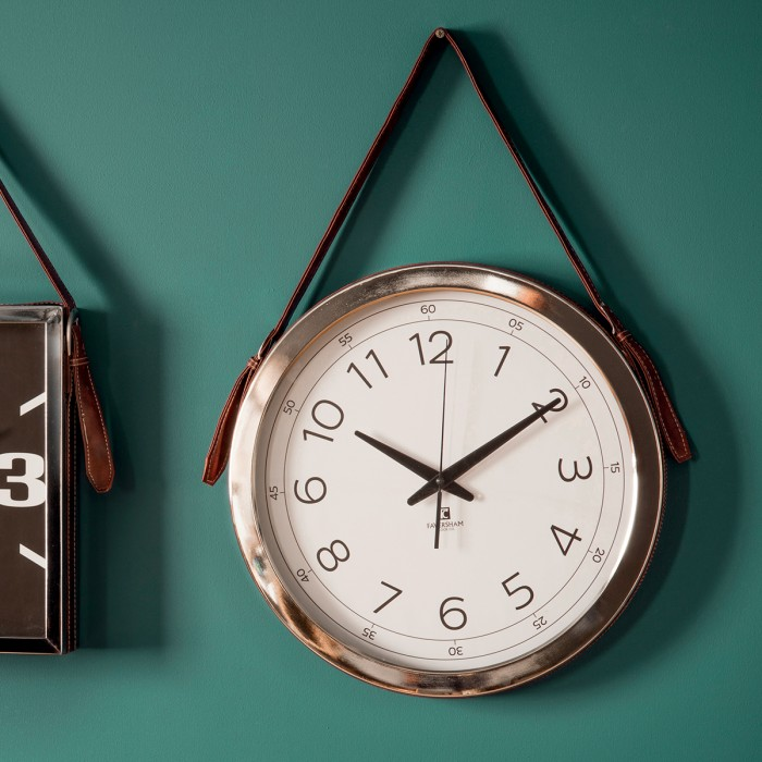 Yalding Clock with Faux Leather Strap (4pk)