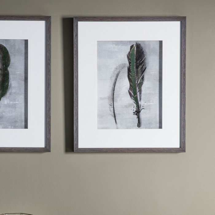 Feather II Framed Art