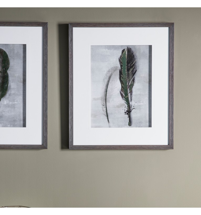 Feather II Framed Art 45x55cm | Gallery Direct