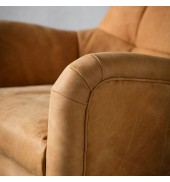 Bristol Swivel Chair Saddle Tan