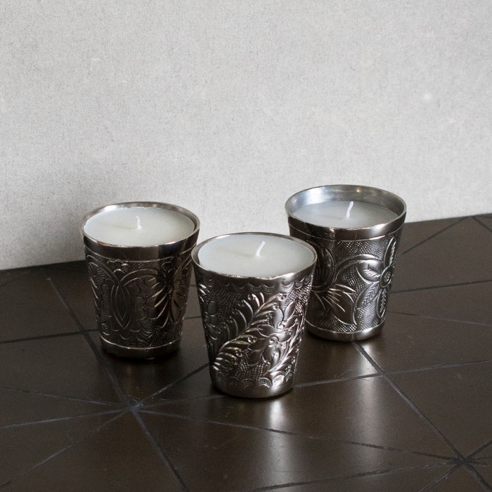 Lynton Day Spa Scented Candles Candleholder Set of 3