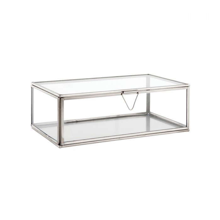 Portis Medium Box Accessory Clear Glass