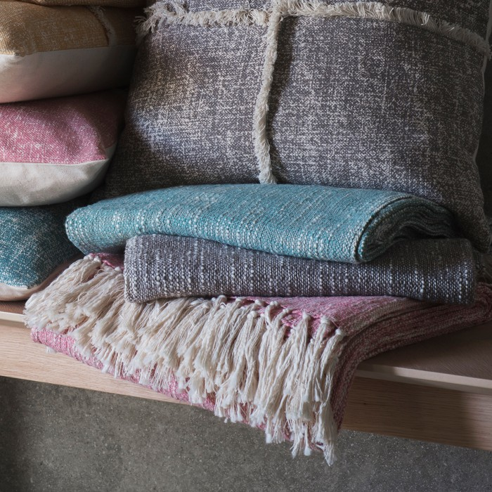 Surat Fringed Throw Blush