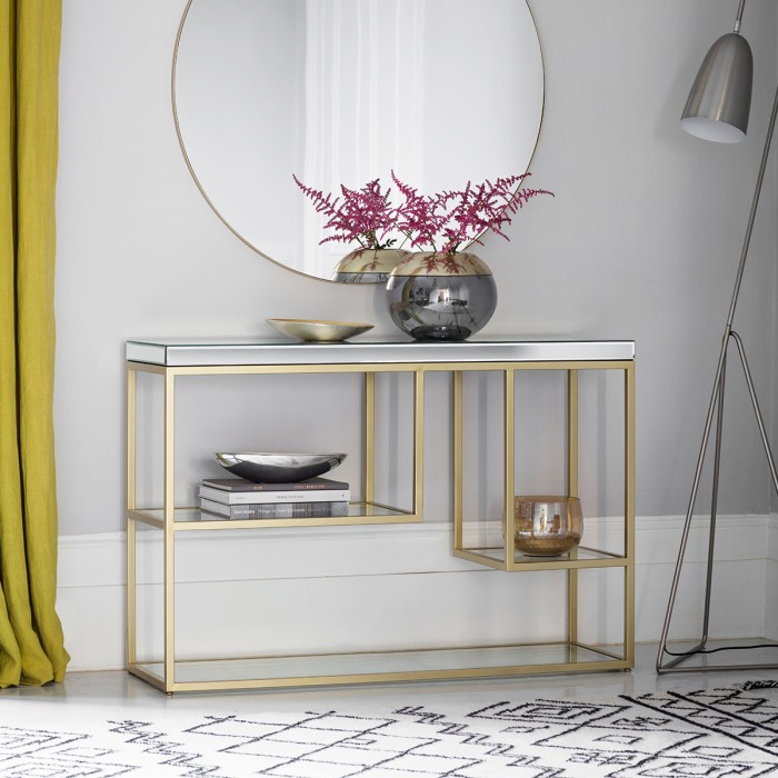 Pippard Console Table Champagne