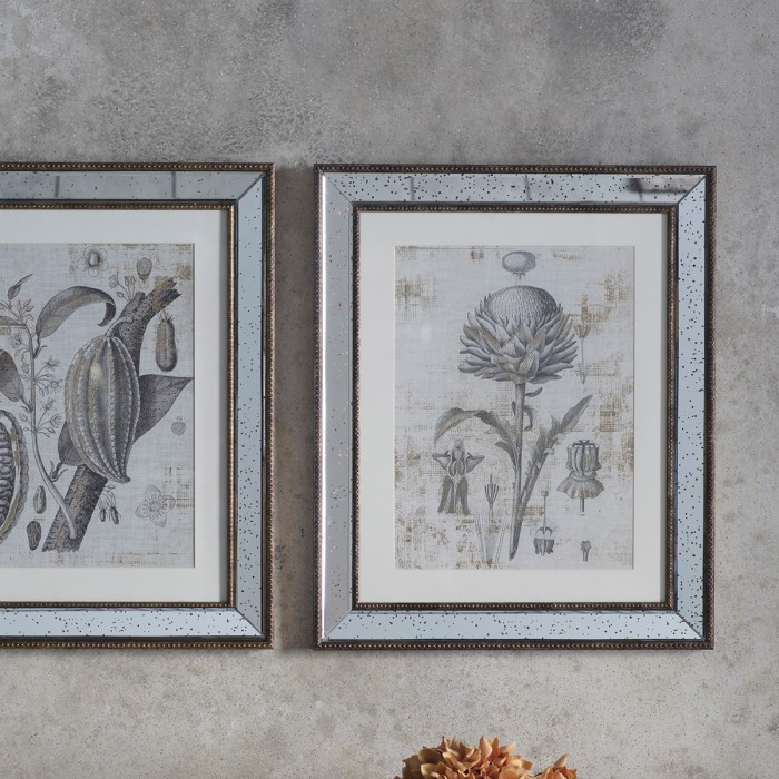 Gold Foil Botanical Study II Framed Art