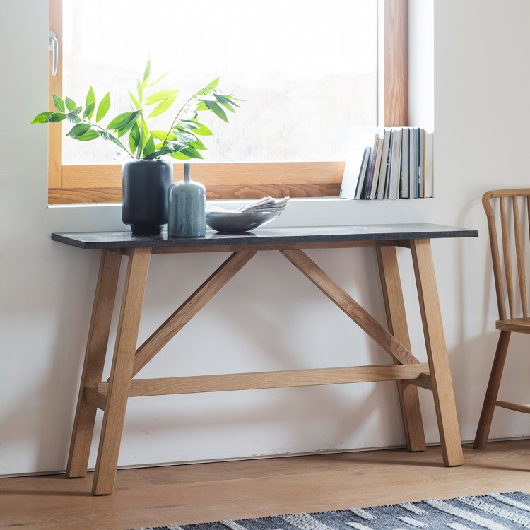 Brixton Burnished Console Table