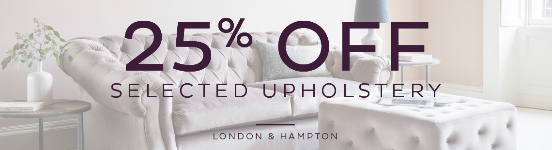 25% off upholstery