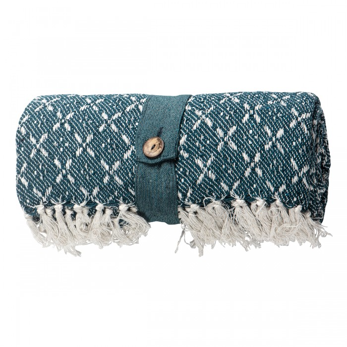 Cotton Organic Throw Teal