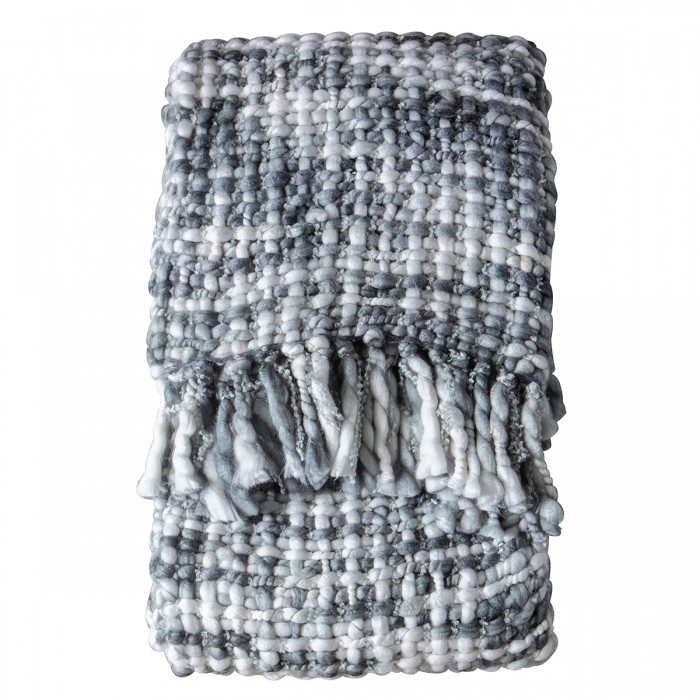 Melody Rope Throw Grey/Cream