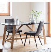 Brixton Burnished Dining Table 2400