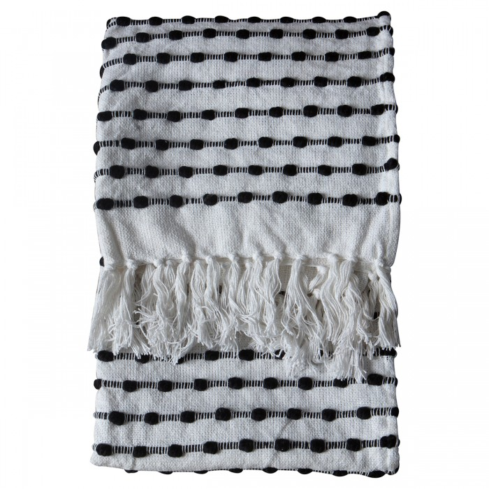 Julio Loop Throw Black/Cream