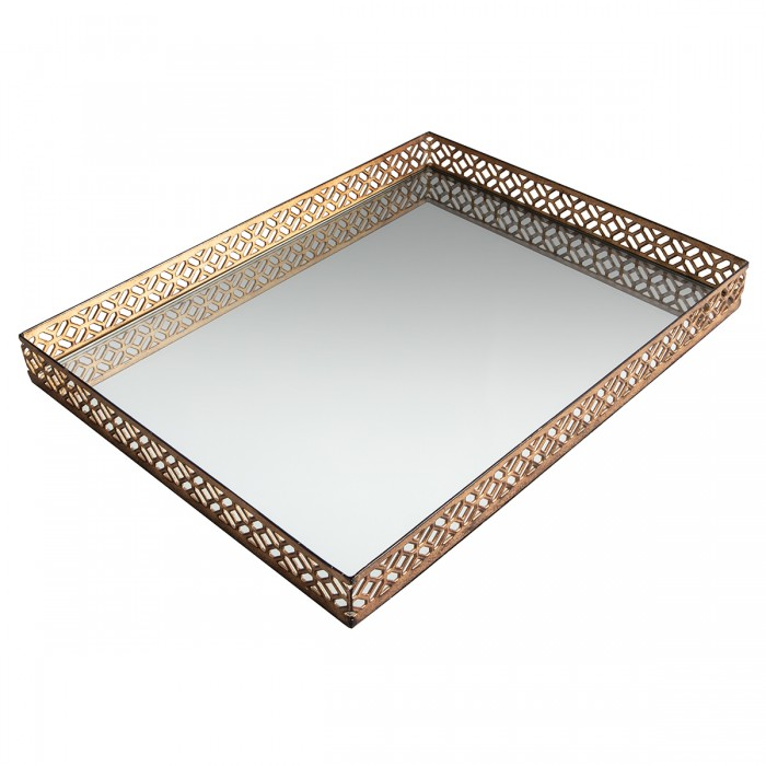 Motitz Aged Champagne Mirror Tray