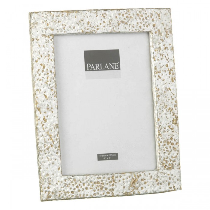 Hammered Photoframe Antique Silver Large (2pk)