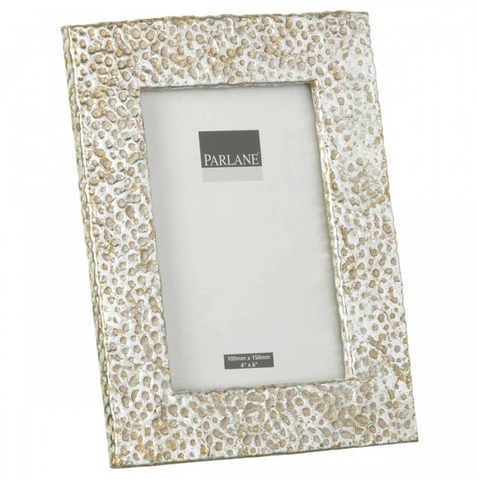 Hammered Photoframe Antique Silver Small