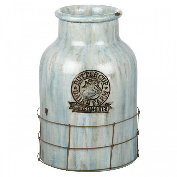 Buttercup Vase Ceramic Blue
