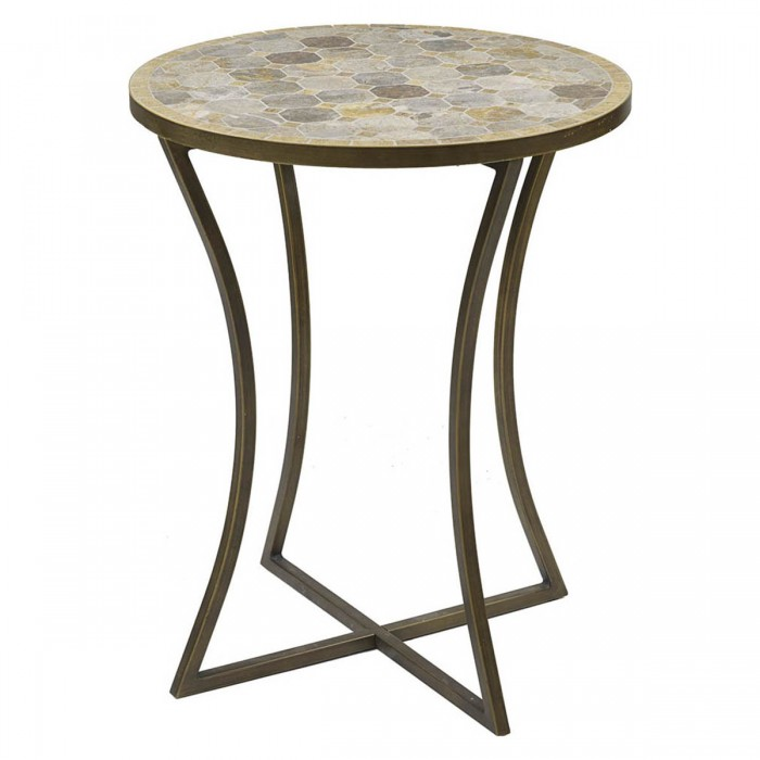 Aurelia Table Natural & Gold