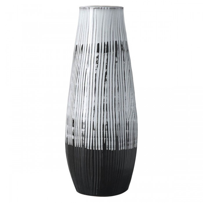 Ansel Vase Black & White Large
