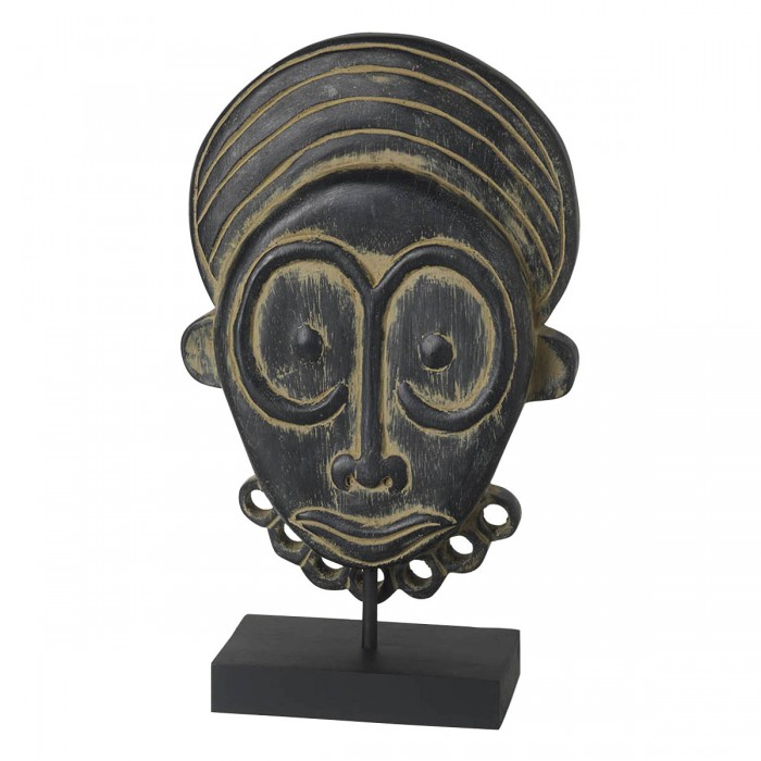 Mask on Stand Black