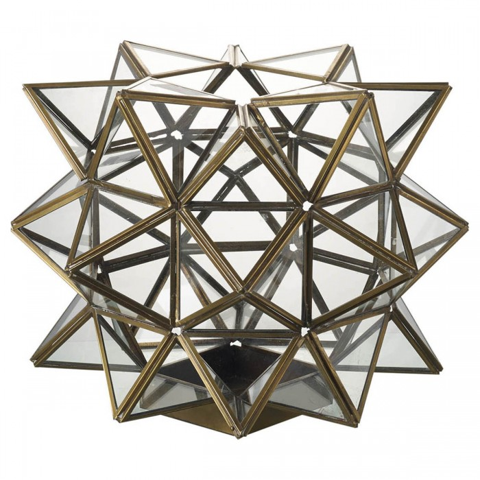 Cosmic Lantern Metal & Bronze Glass