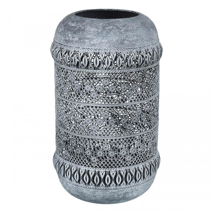 Sullivan Hurricane Metal Vase Grey Large