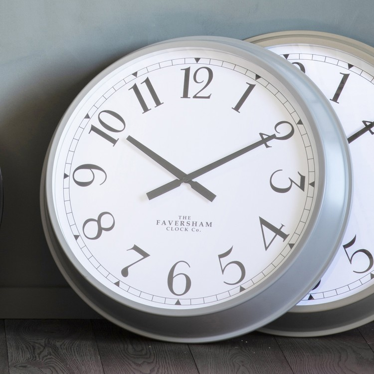 Orville Clock Fossil Grey