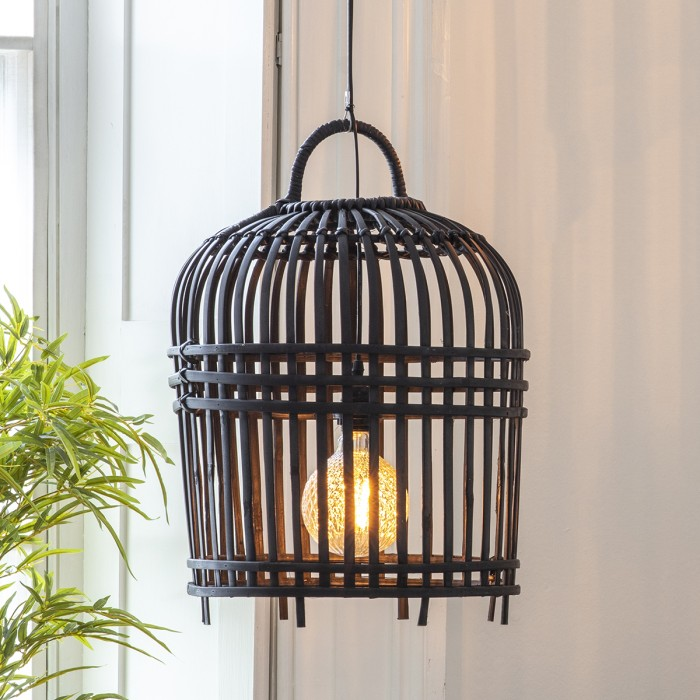 Pueblo Lampshade Charcoal Small