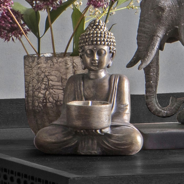 Khumen Buddha Tealight Holder (2pk)
