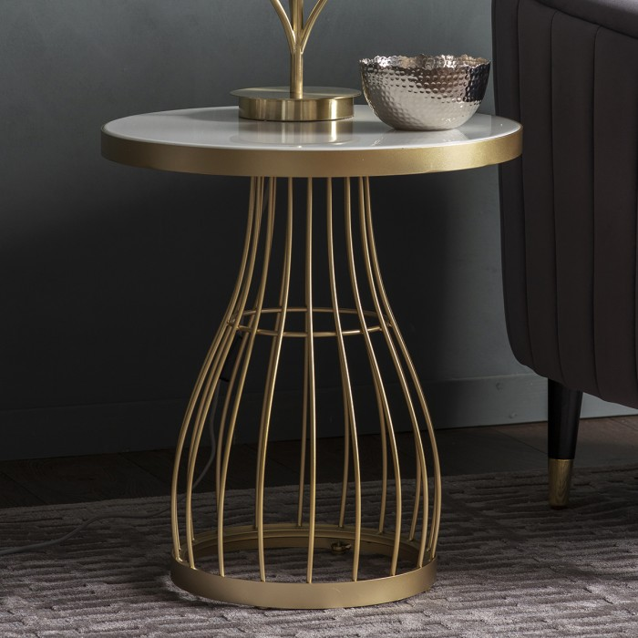 Southgate Side Table Champagne