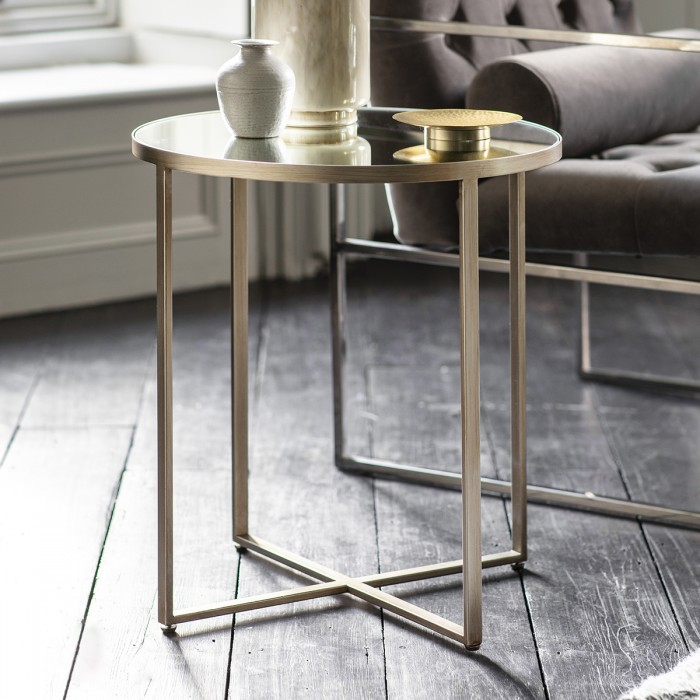 Torrance Side Table Silver