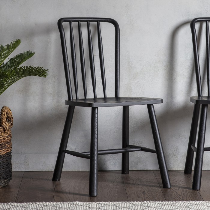 Wycombe Dining Chair Black (2pk)