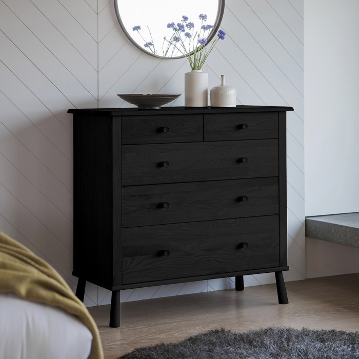 Wycombe 5 Drawer Chest Black