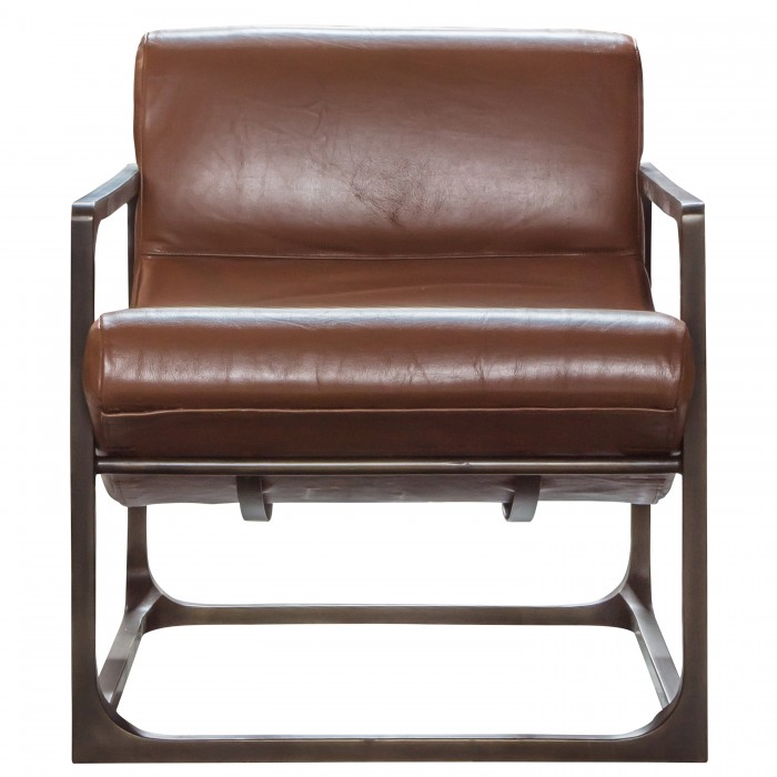 Boda Lounger Brown Leather