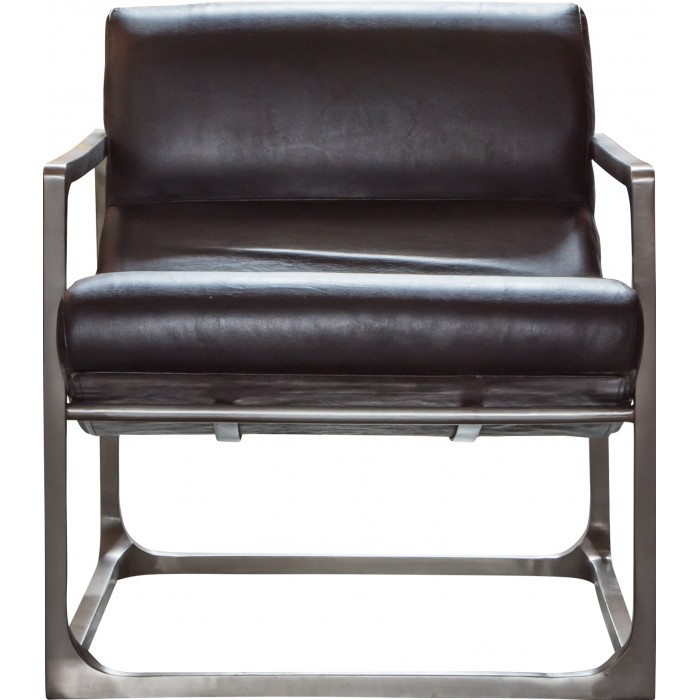 Boda Lounger Black Leather